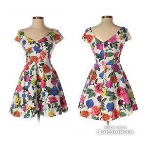 ASOS Petite Floral Skater Dress Sz 6